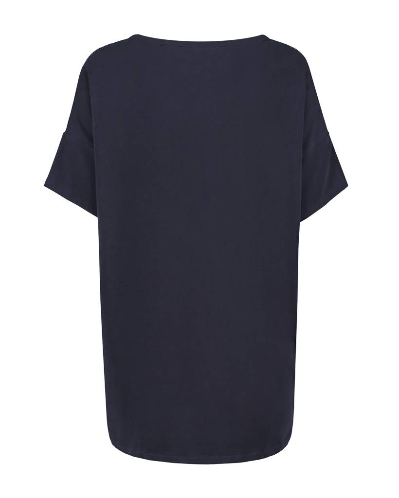 SYLVER Stripes Shirt - Dark Blue