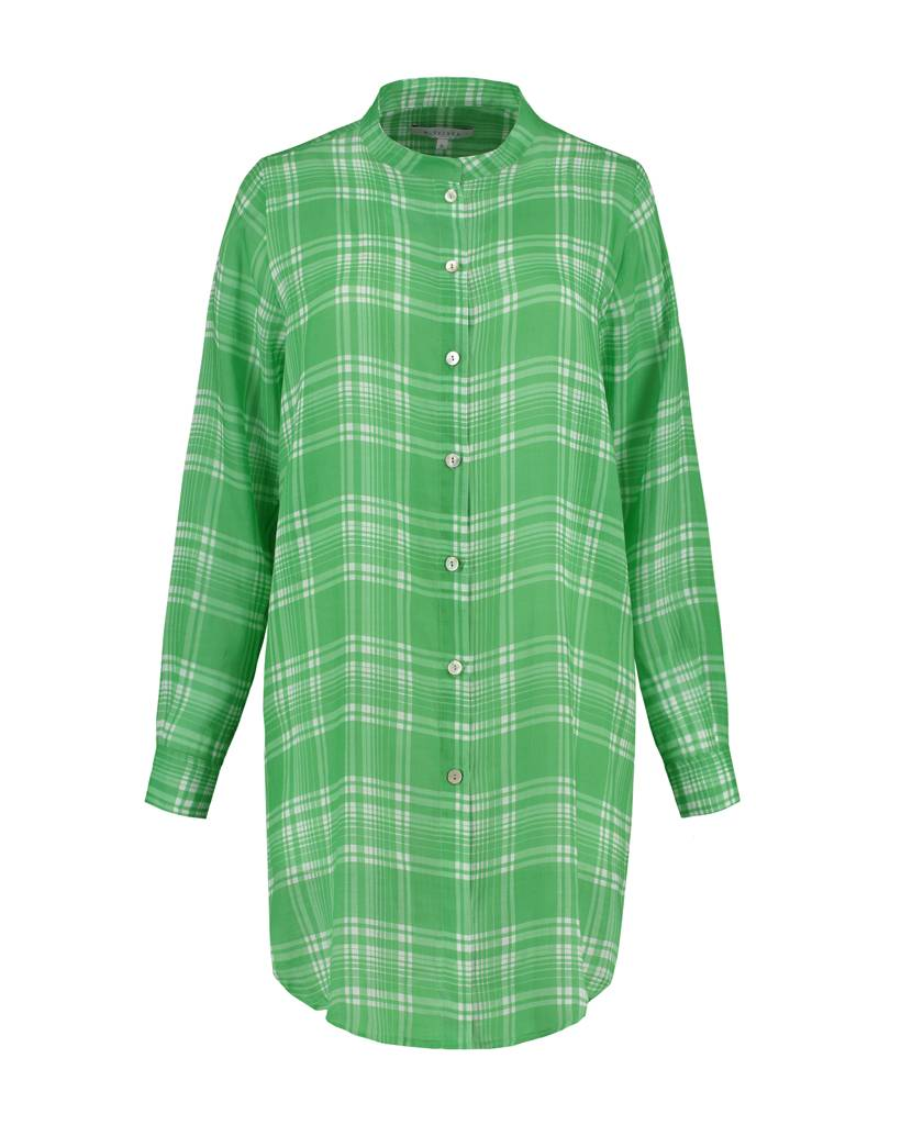 SYLVER Check Blouse Long Sleeve - Spring Green