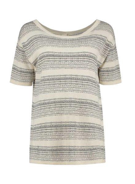 SYLVER Stripe Knit Cardigan/Shirt - Zwart