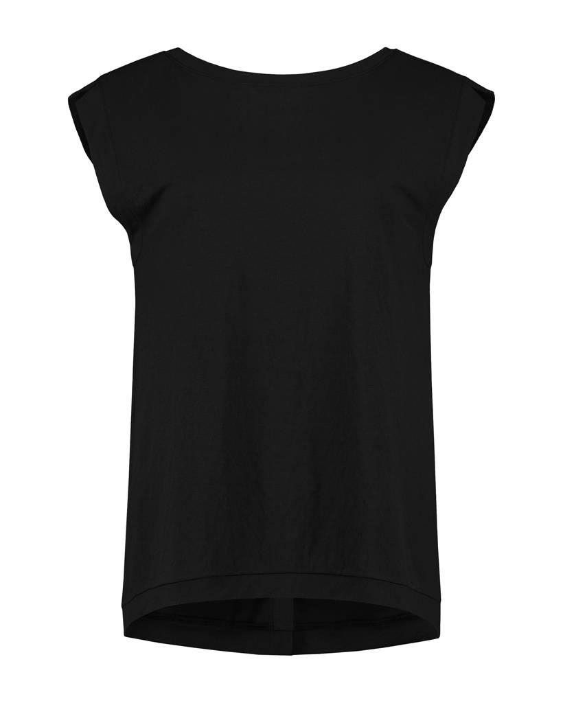 SYLVER Stretch Crêpe Shirt - Black
