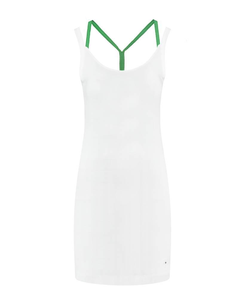 SYLVER Cotton Elasthane Dress Crossed - Grasgroen