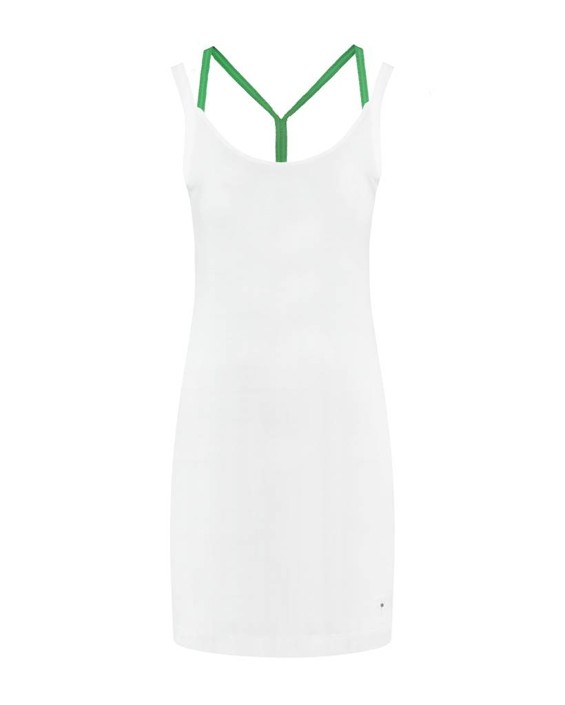 SYLVER Cotton Elasthane Dress Crossed - Spring Green