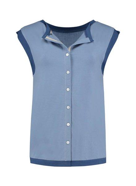 SYLVER Mix & Match Shirt Round Neck - Lichtblauw