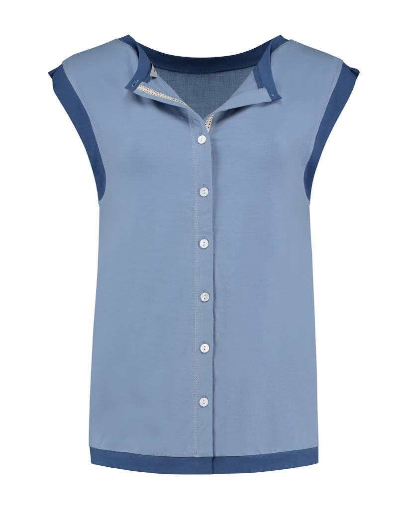 SYLVER Mix & Match Shirt Round Neck - Lichtblauw