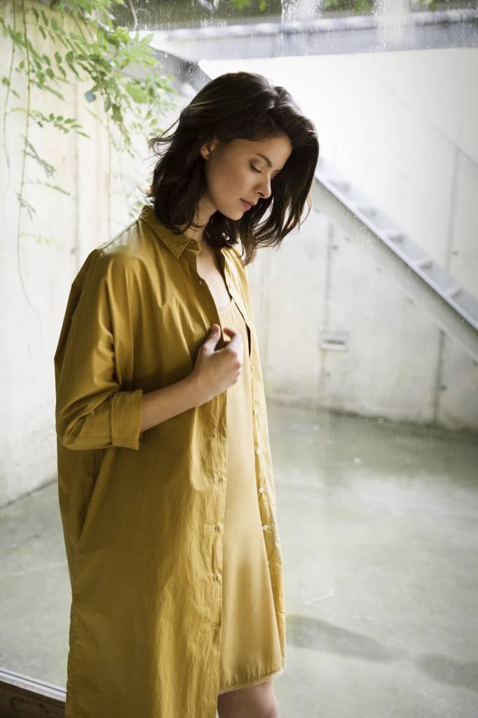 SYLVER Silky Jersey Slip dress - Okergeel