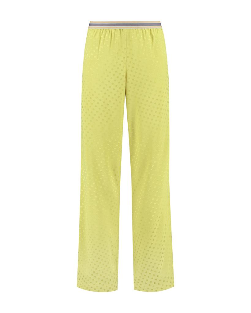SYLVER Jacquard Trousers - Limoengeel