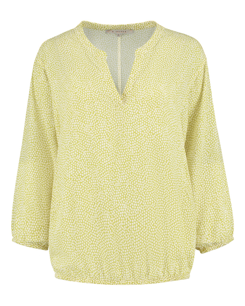 SYLVER Cells Blouse - Limoengeel