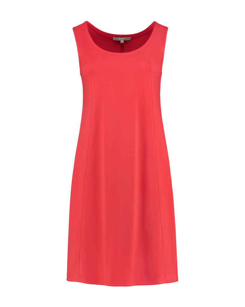 SYLVER Mercerised Cotton Dress Sleeveless - Coral