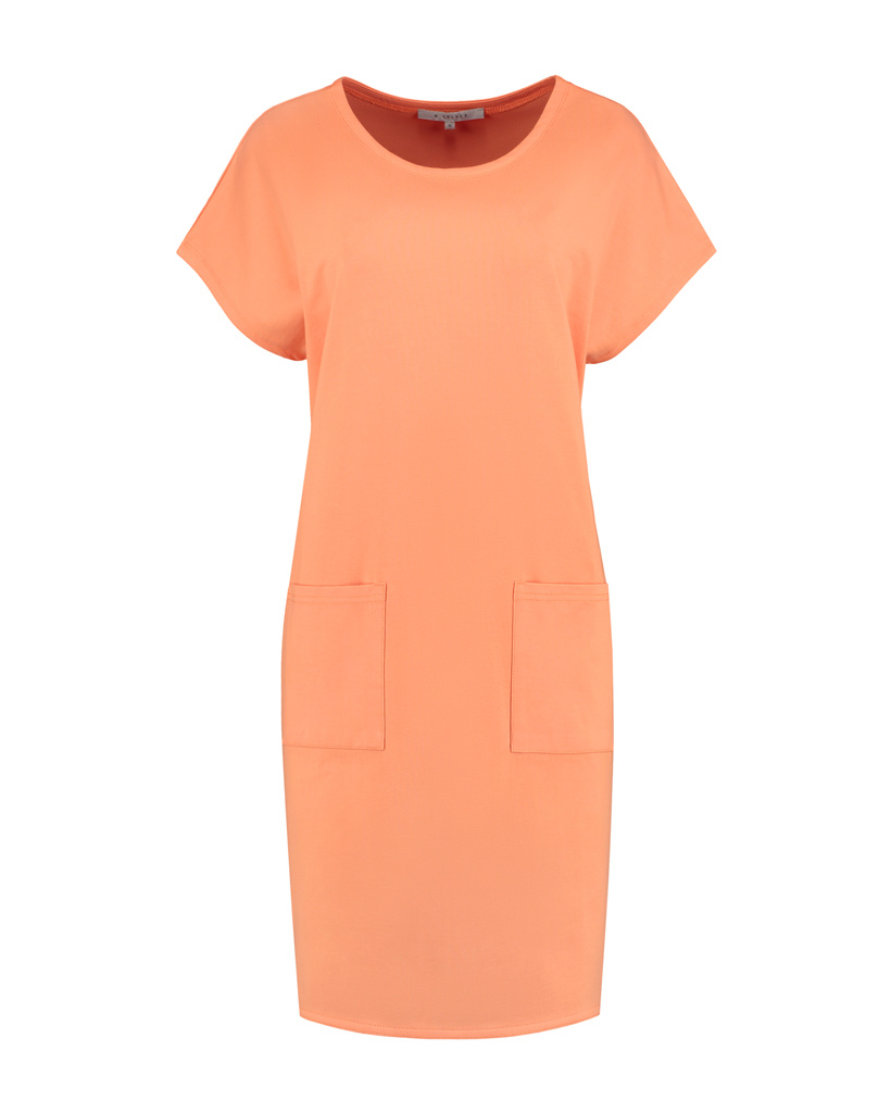 SYLVER Mercerised Cotton Dress - Oranje