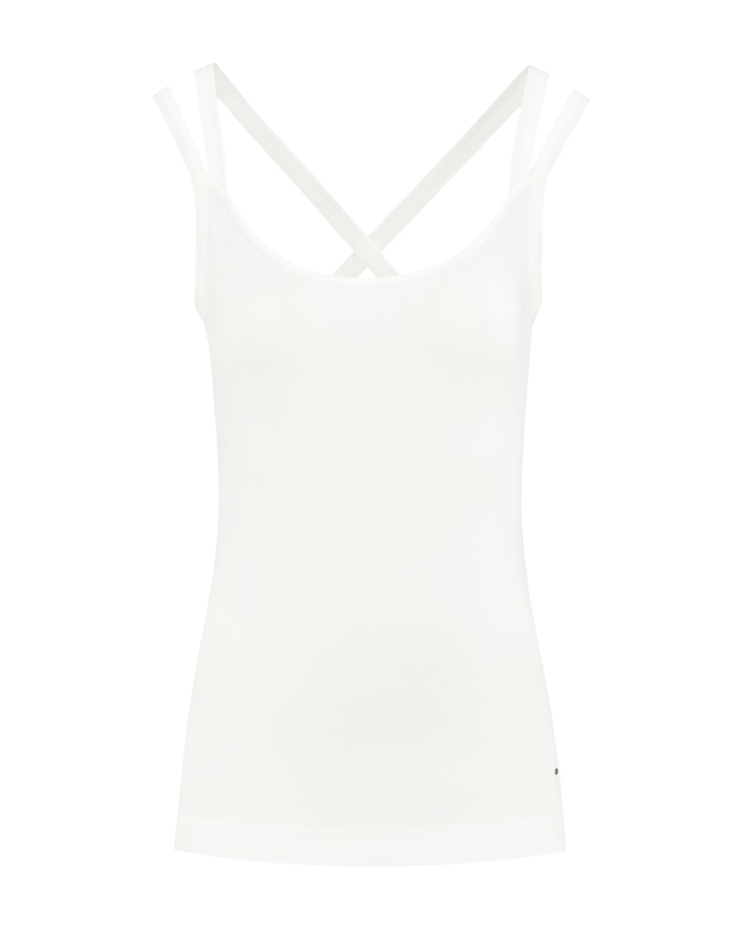 SYLVER Cotton Elasthan Shirt - Gebroken Wit