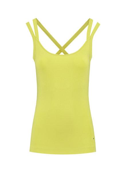 SYLVER Cotton Elasthan Shirt - Limoengeel