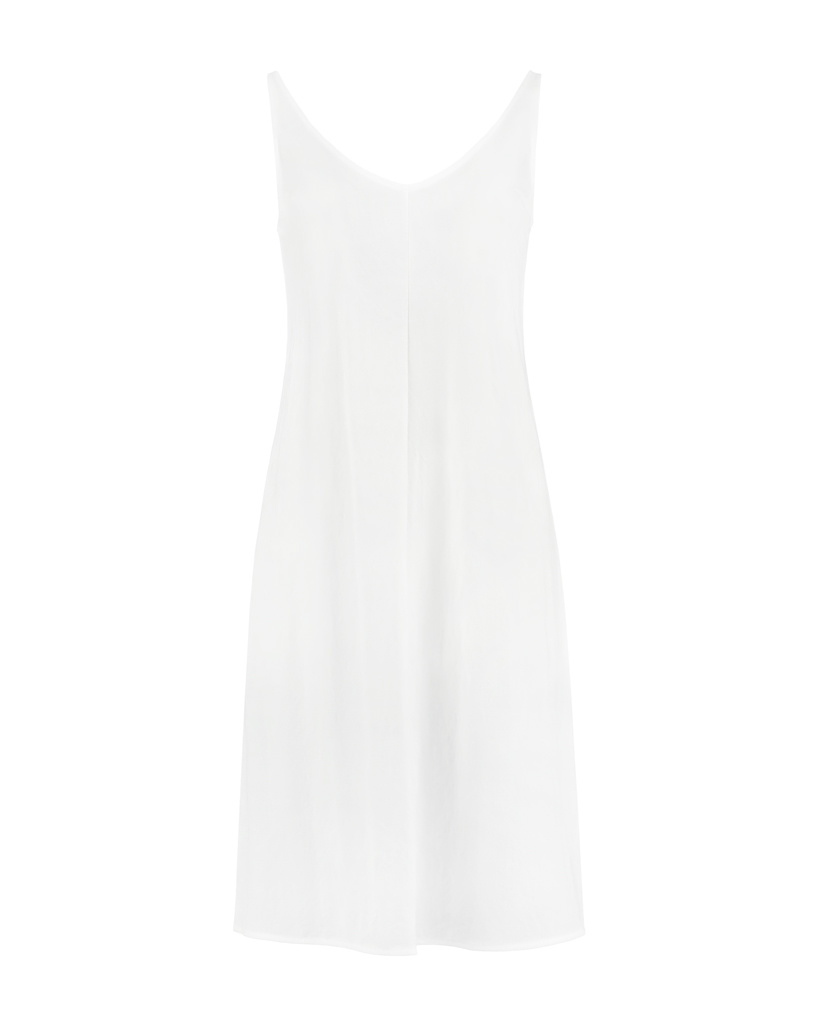 SYLVER Crêpe Stretch Dress A-line - Gebroken Wit