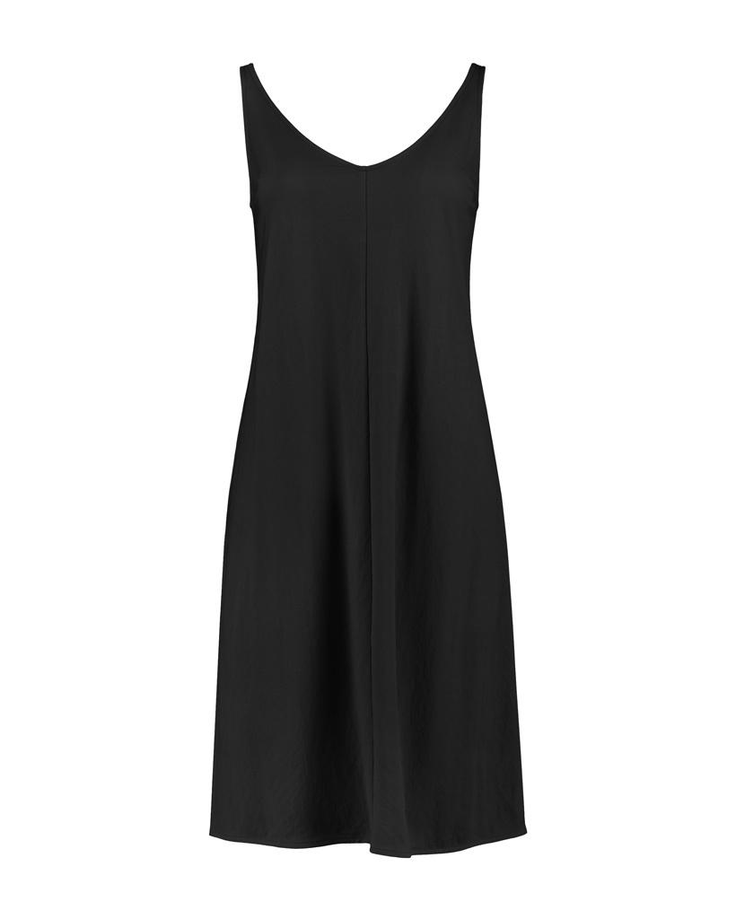 SYLVER Crêpe Stretch Dress A-line - Black