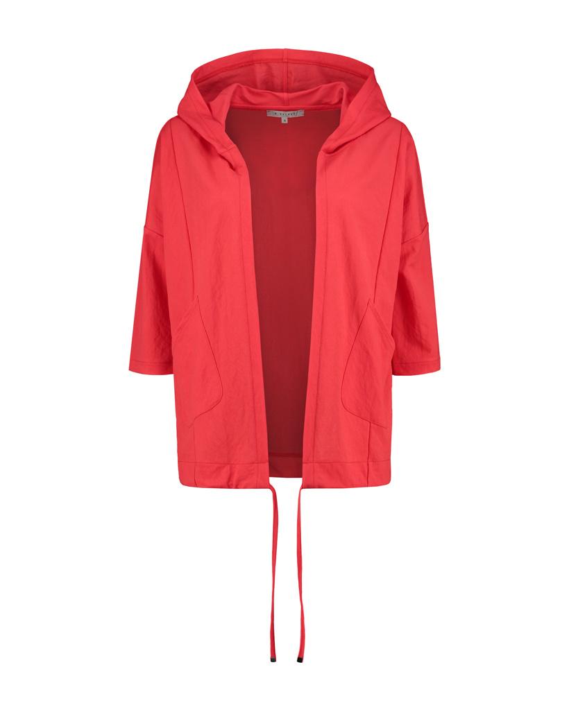 SYLVER Crêpe Stretch Jacket - Koraalrood