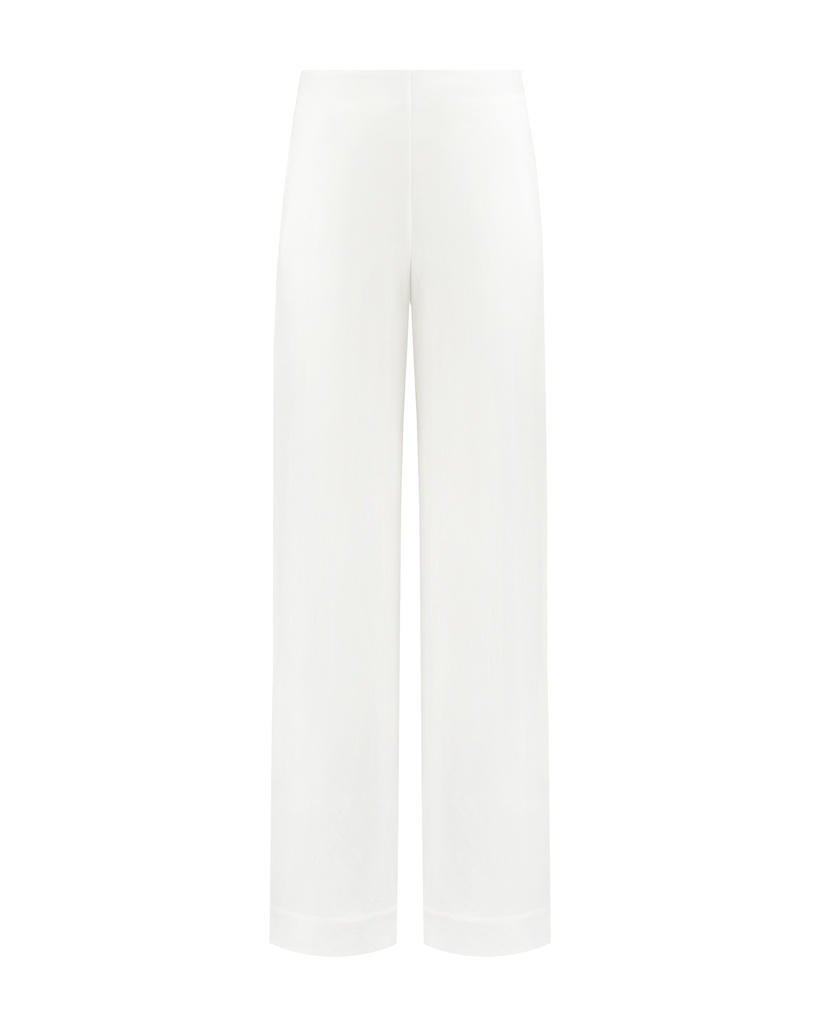 SYLVER Crêpe Stretch Trousers - Off white