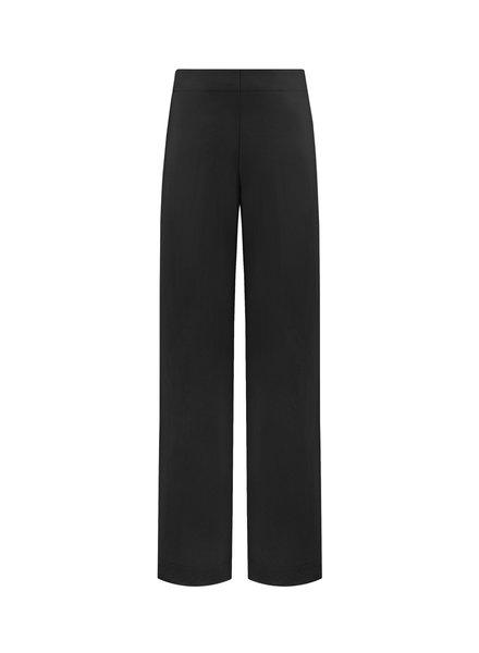 SYLVER Crêpe Stretch Trousers - Zwart