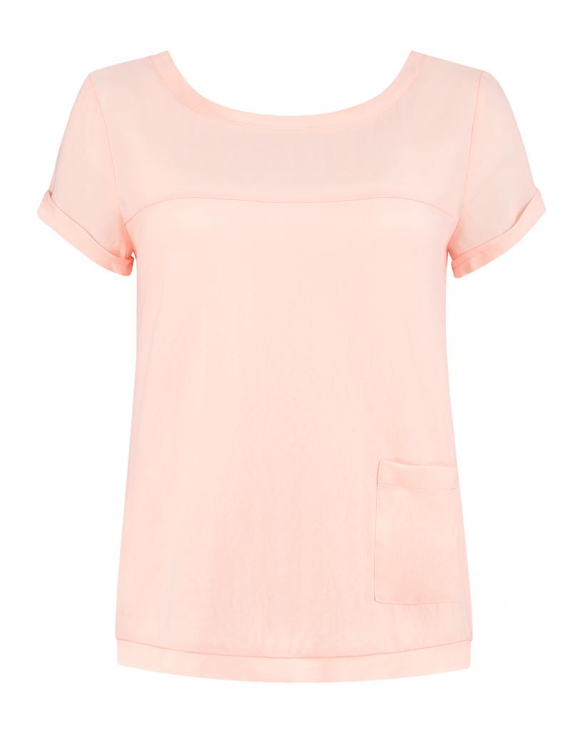 SYLVER Crêpe Stretch Shirt - Salmon