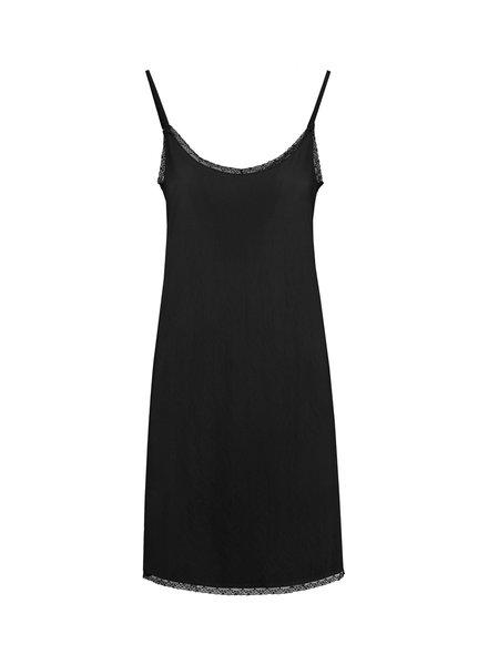 SYLVER Crêpe Stretch Underdress - Black