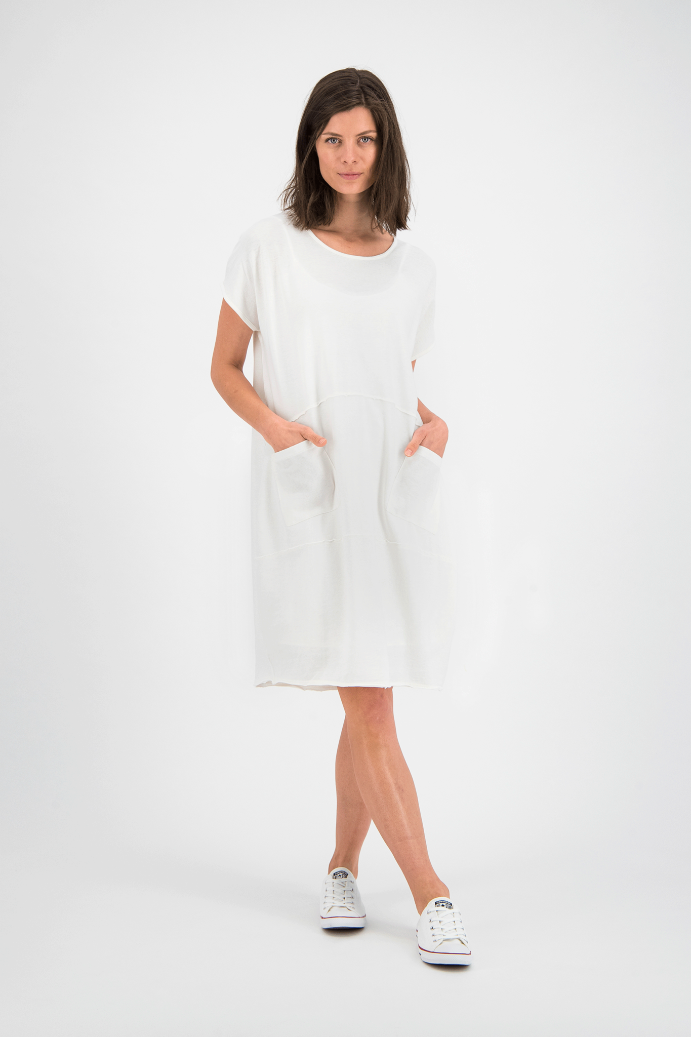 SYLVER Organic Dress - Gebroken Wit