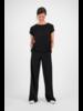 SYLVER Crêpe Stretch Trousers - Black