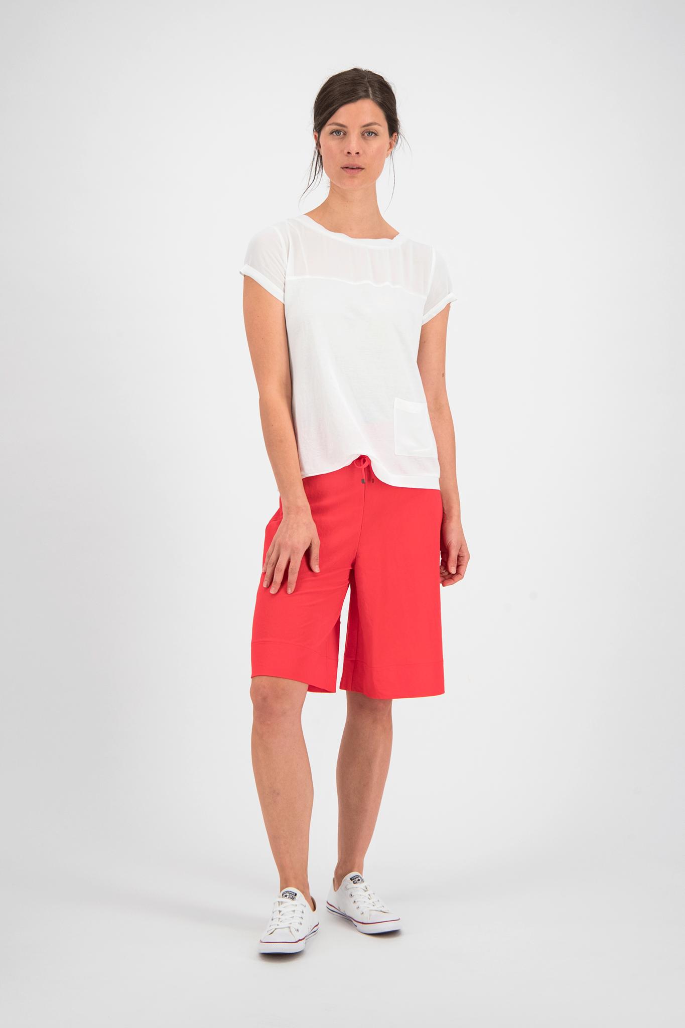 SYLVER Crêpe Stretch Skirt-Short - Coral