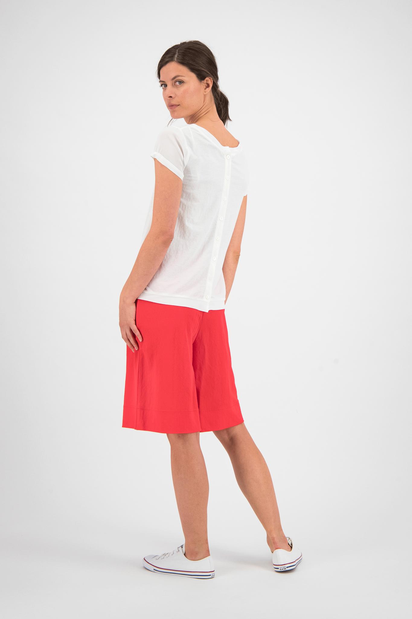 SYLVER Crêpe Stretch Skirt-Short - Koraalrood