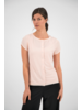 SYLVER Crêpe Stretch Shirt - Zalmroze