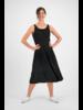 SYLVER Crêpe Stretch Dress - Black