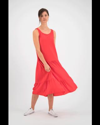 SYLVER Crêpe Stretch Dress - Coral