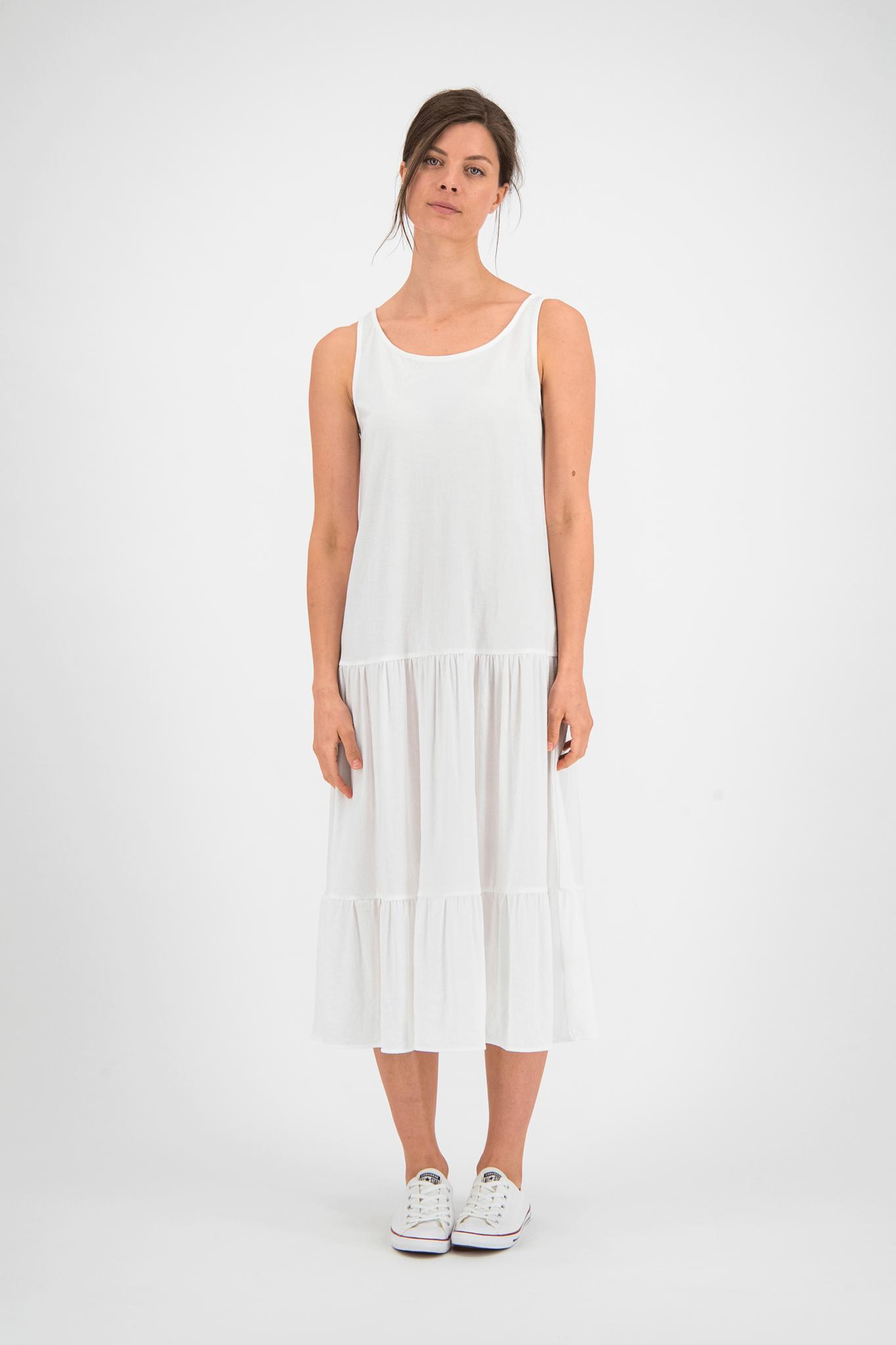 SYLVER Crêpe Stretch Dress - Off white