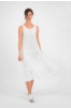 SYLVER Crêpe Stretch Dress - Gebroken Wit