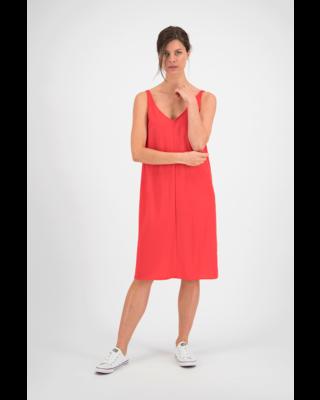 SYLVER Crêpe Stretch Dress A-line - Coral