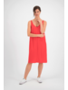 SYLVER Crêpe Stretch Dress A-line - Coral