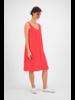SYLVER Crêpe Stretch Dress A-line - Koraalrood