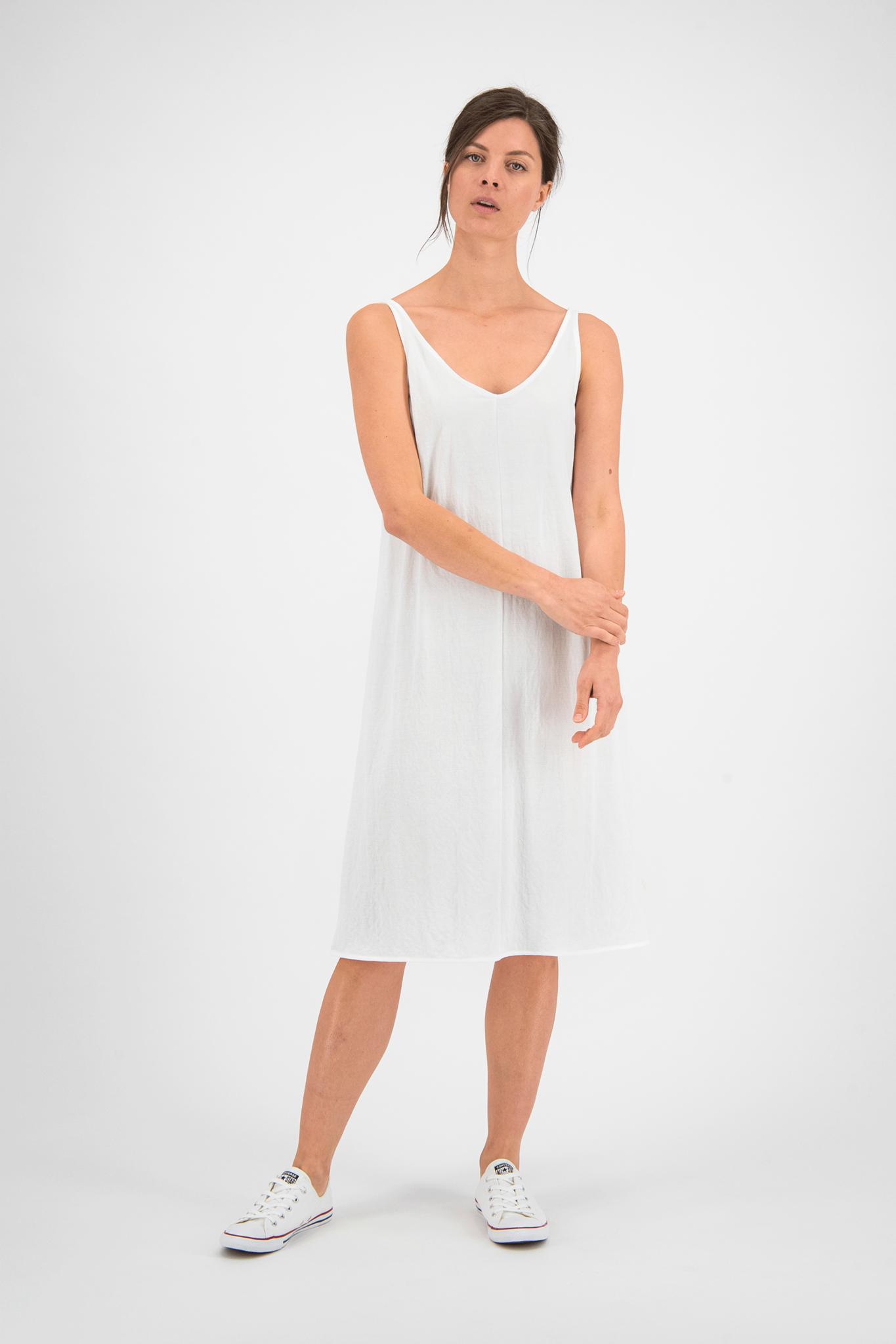 SYLVER Crêpe Stretch Dress A-line - Off white