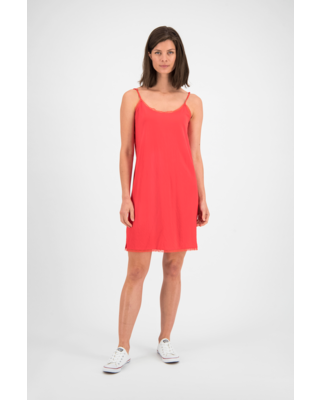 SYLVER Crêpe Stretch Underdress - Coral