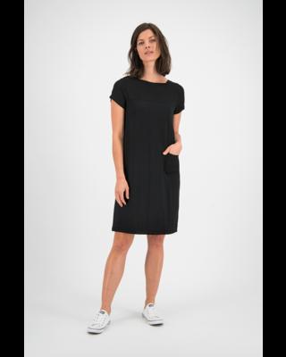 SYLVER Crêpe Stretch Dress-Blouse - Zwart