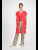 SYLVER Crêpe Stretch Dress-Blouse - Koraalrood