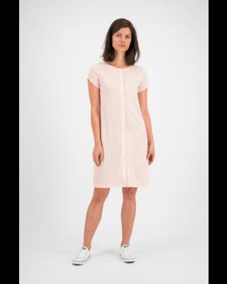 SYLVER Crêpe Stretch Dress-Blouse - Zalmroze