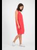 SYLVER Crêpe Stretch Dress Balloon - Koraalrood
