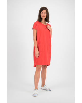 SYLVER Mercerised Cotton Dress - Coral