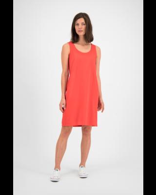 SYLVER Mercerised Cotton Dress Sleeveless - Koraalrood