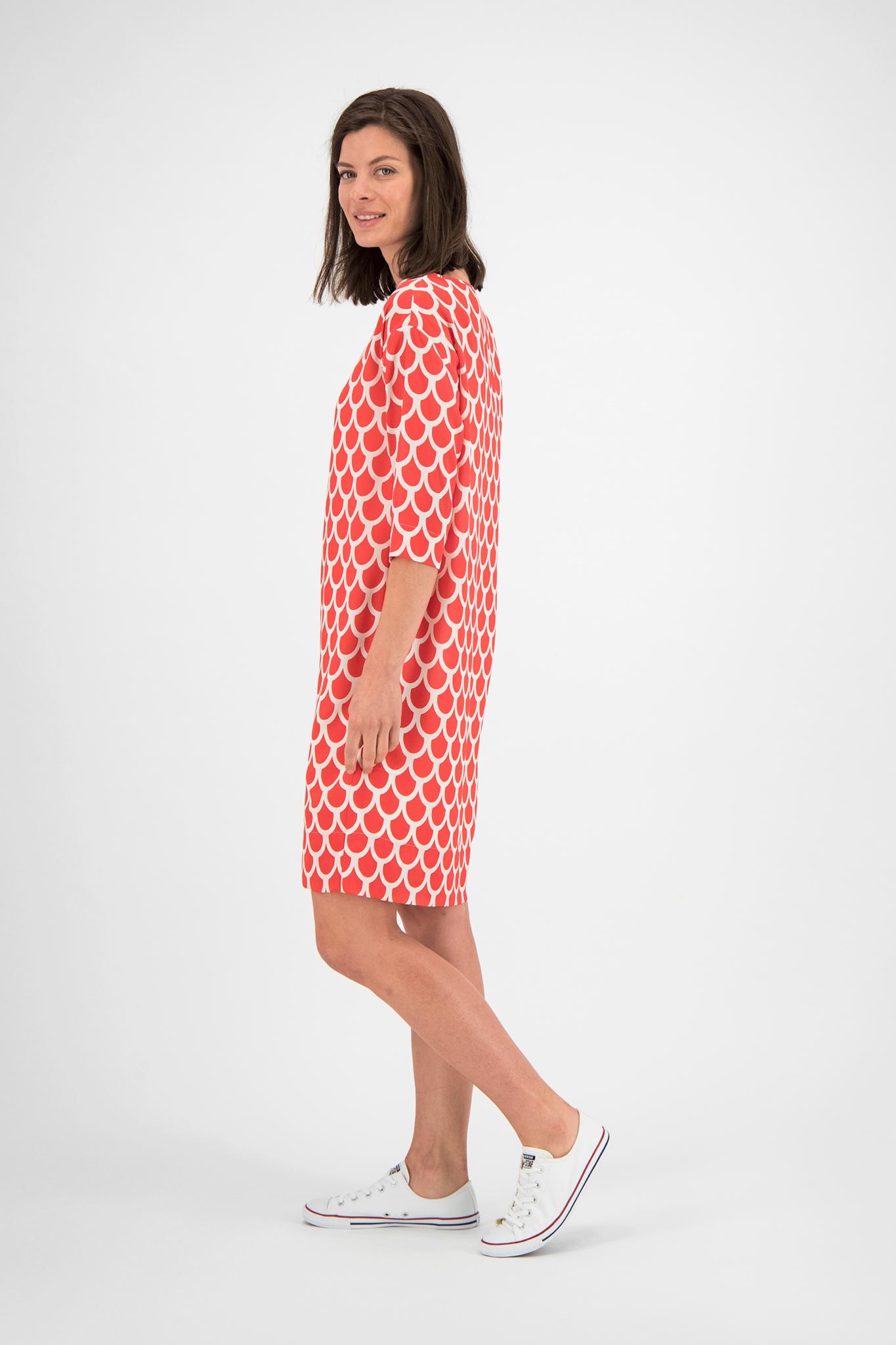 SYLVER Arches Dress - Koraalrood