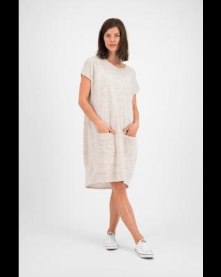 SYLVER Linen Cotton Stripe Dress - Zand