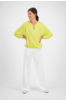 SYLVER Crêpe Stretch Trousers - Gebroken Wit