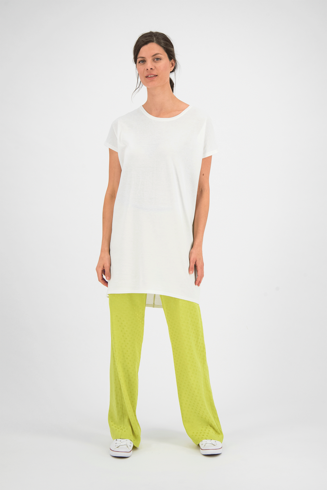 SYLVER Jacquard Trousers - Lime