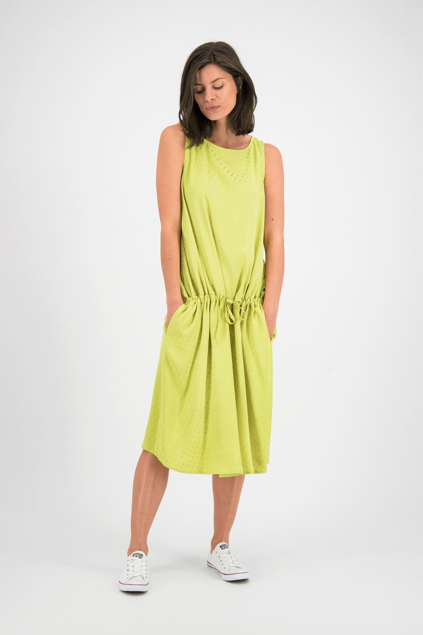 SYLVER Jacquard Dress - Limoengeel