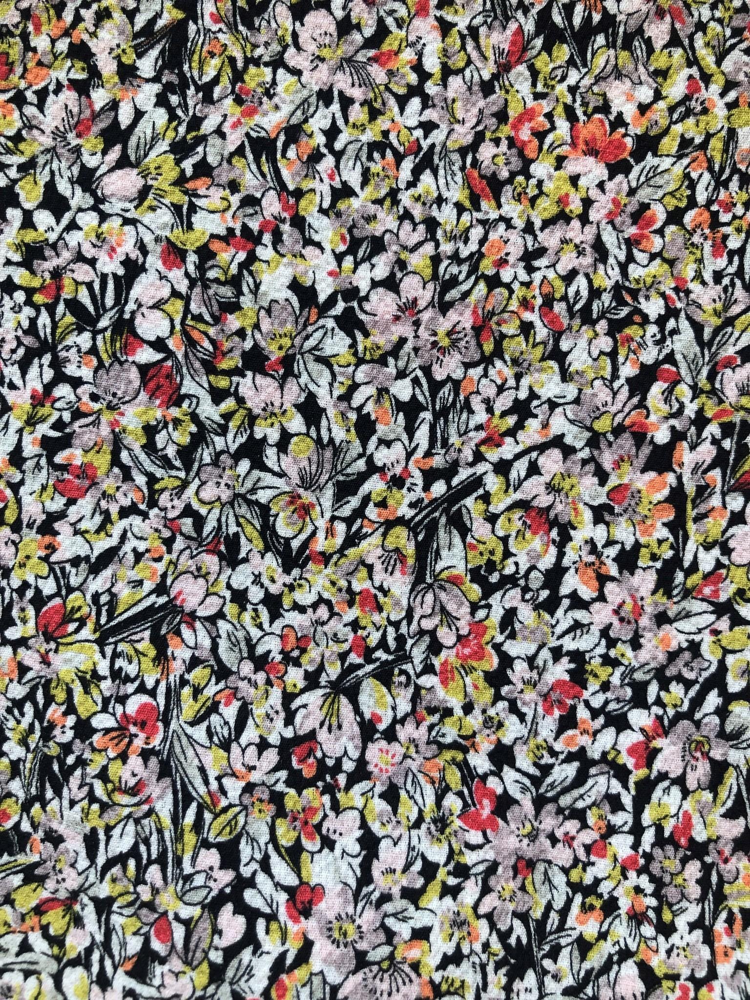 SYLVER Mille Fleurs Blouse short - Zwart