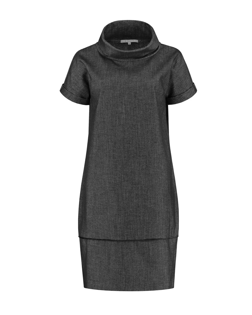 SYLVER Denim Dress - Black