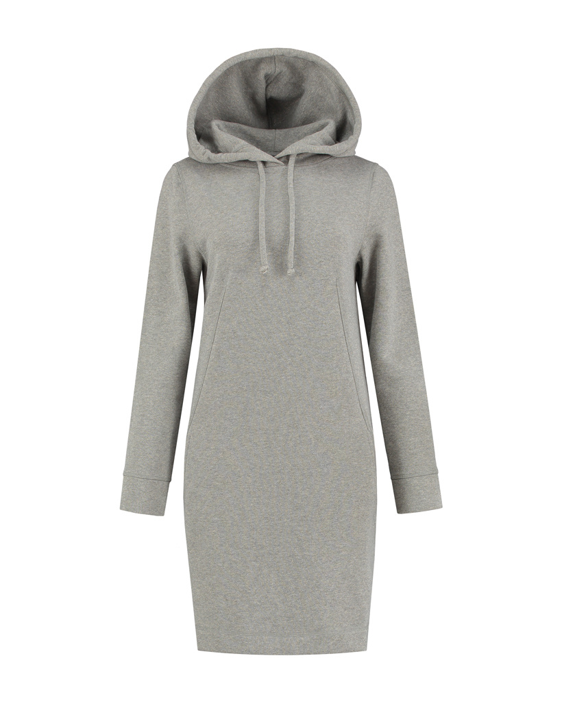 SYLVER Lurex Sweat Dress - Middle Grey